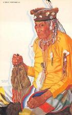 GREAT NORTHER RAILROAD LAZY BOY MEDICINE MAN INDIAN ADVERTISING POSTCARD  (19