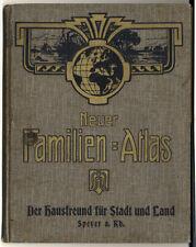 Deutschland Speyer Europa Kolonien Amerika Asien Hausfreund Familien Atlas 1908