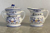 Vintage Royal Sealy Heritage Creamer Sugar Bowl and Lid Japan