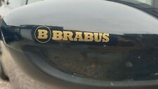 Brabus Logo Styling Car Wing Mirror Decal Stickers x2 gold Mercedes Benz smart