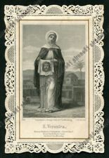 SANTA VERONICA 02 SANTINO HOLY CARD IMAGE PIEUSE 1800 PIZZO LACE Ed. SANGUINETTI