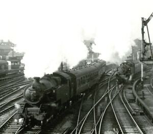 Vintage train photograph 42675 steam locomotive Wigan Southport railway #70