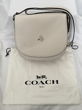 BNWT Disney Coach limited edition white chalk Mickey bigger saddle bag, sold out