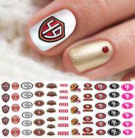 San Francisco 49ers Football Nail Art Decals - Salon Quality!