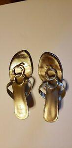 Women's Fioni Gold Sandals/Mules/Heels, Size US 8