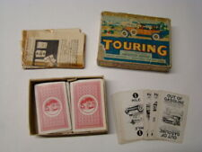 Vintage 1926 Parker Bros Touring Card Game Box 98 Cards & Instructions