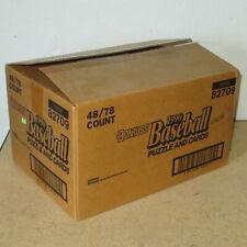 """1990 Donruss Blister 48 Rack Packs 78 Cards Baseball New 16x11x9"""""""