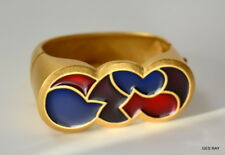 41cfe6e0cd2 MONET For YSL Yves Saint Laurent Couture Gold Bracelet Cuff High End