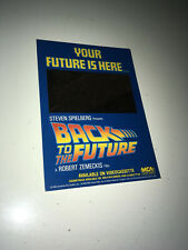 BACK TO THE FUTURE 1985 Vintage Movie Promo Card Display w/ Mirror BTTF Poster