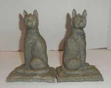 "SPI Cats 8"" Sand Resin Mantle Figurines"
