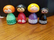 Vintage Lot of 4 Avon 💞 Small World Doll Bottles �