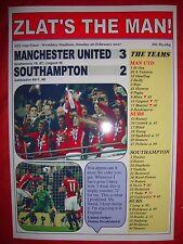 Manchester United 3 Southampton 2 - 2017 EFL Cup final - souvenir print