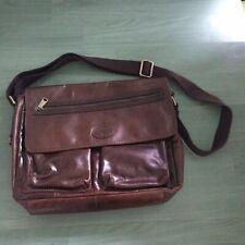 fossil messenger bag leather