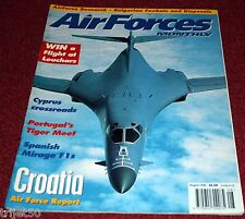 Air Forces Monthly 1996 August Spanish Mirage,Croatia,Cyprus,Bulgarian Foxbat