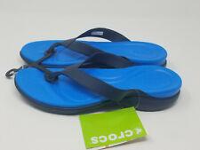Crocs Capri V Navy/Ocean 10 Women's Flip Flop Sandal