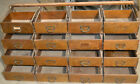 Antique Wood Cabinet Vintage 16 Drawers, Library Catalog, Apothecary, jewelry?