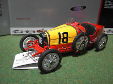 BUGATTI TYP 35 GP cabriolet #18 ESPAGNE 1/18 CMC 100B016 voiture miniature colle