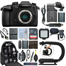 Panasonic Lumix DMC-GH5 20.3 MP 4K Digital Camera Body + 64GB Pro Video Kit