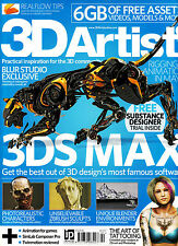 3D ARTIST #90 3ds Max BLUR STUDIO EXCLUSIVE Art of Tatooing+ 6GB of FREEBIES New