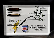 More details for sullom voe terminal four billionth oil barrel commemorative plaque shetland isle