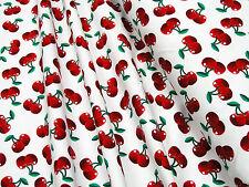 Jersey Little Darling Kirschen auf weiß Baumwoll Jersey 0,5m