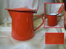 Antica Caffettiera rossa in metallo MADE IN POLAND