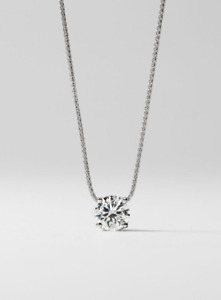 3.00 CT MOISSANITE SOLITAIRE FOREVER ONE GHI BASKET PENDANT  GREAT GIFT