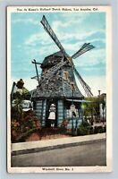Los Angeles CA, Van de Kamp's Holland Windmill, Vintage California Postcard