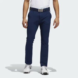 ADIDAS GOLF MEN'S FALL WEIGHT PANTS W32/L32 NAVY WATER REPELLENT FINISH 20552