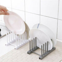 Kitchen Storage Pot Lid Rack Plate Organizer Dishes Draining Pan Cover Holder