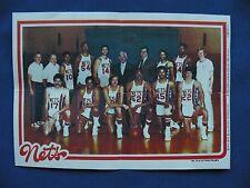 1980-81 Topps Team Pin-Ups New JerseyNets #10 team photo basketball NBA