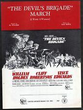 Devil's Brigade March 1968 William Holden THE DEVIL'S BRIGADE Sheet Music