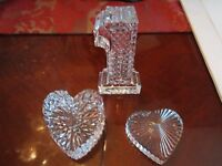 3 WATERFORD CRYSTAL PAPERWEIGHTS - HEAVY PIECES - LOT B