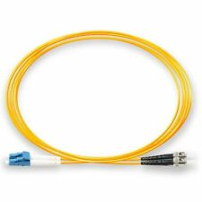 2m Fibre Optic ST-LC Single Mode Duplex Patch Lead OS2 SM Cable Yellow *NEW*