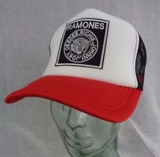 ramones hat cap mesh trucker black white red punk rock alt skate grunge metal