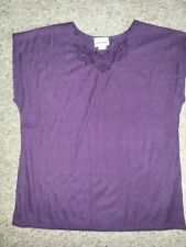 NEW Purple Lace Trimmed FASHION BUG Sleeveless Top Ladies Size 14-16