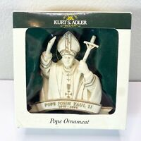 NEW! Pope John Paul II Christmas Ornament, Kurt S. Alder W3460