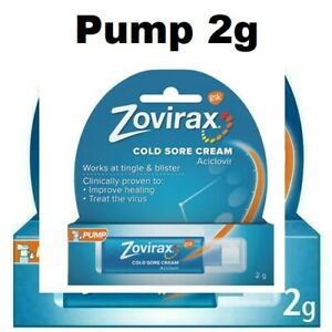 Zovirax Cold Sore Cream - 2g Clinically proven works at TINGLE AND BLISTER