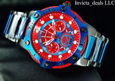 Invicta 39mm Marvel Bolt SPIDERMAN Limited Ed Black & Blu Tone SS Bracelet Watch