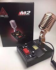 GOLD DELTA M2 AMPLIFIED DYNAMIC POWER BASE MICROPHONE 5 pin Cobra CB HAM MIC