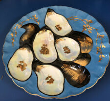 Limoges Hand Painted Turkey Oyster Plate