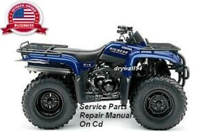 2000-2012 Yamaha Big Bear YFM400 4x4 Factory OEM Service/Parts&Repair CD Manual