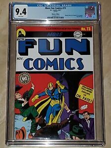 MORE FUN COMICS 73 2017 MEXICAN EDITION  CGC 9.4 WHITE PAGES GOLD FOIL AQUAMAN