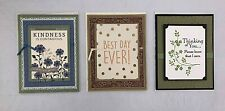 Greeting Cards Handmade Handcrafted Stamped Birthday Thank You Sympathy