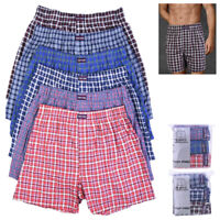 6 Mens Plaid Boxer Shorts Lot Underwear Pack Comfort Waistband Size S M L XL New