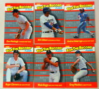 1989 FLEER FOR THE RECORD SIX CARD SET MADDUX GIBSON CLEMENS BOGGS MATTINGLY GAL