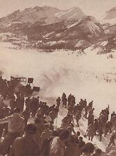 G2237 France -Appareil chasse-neige sur la route du Lautaret - 1936 old print