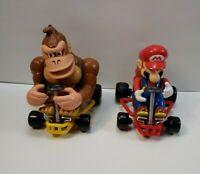 """2004 Nintendo Super Mario Kart and Donkey Kong Kart 5.5"""" Remote RC Car No REMOTE"""
