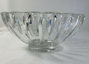 Villeroy & Boch Heavy Clear Crystal Glass Tondo Signed Round Centre Piece Bowl