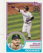 2018 TOPPS SERIES 1 NOLAN ARENADO 3B ROCKIES 1983 RETRO 35TH ANNIVERSARY SP